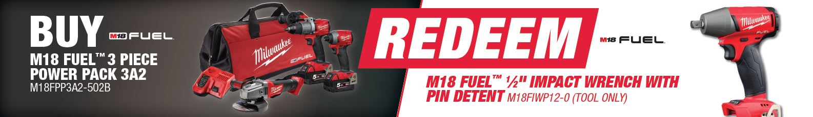 Buy Milwaukee M18FPP3A2-502B and Redeem M18FIWP12-0