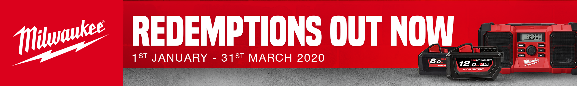 Milwaukee Redemptions Jan to Mar 2020