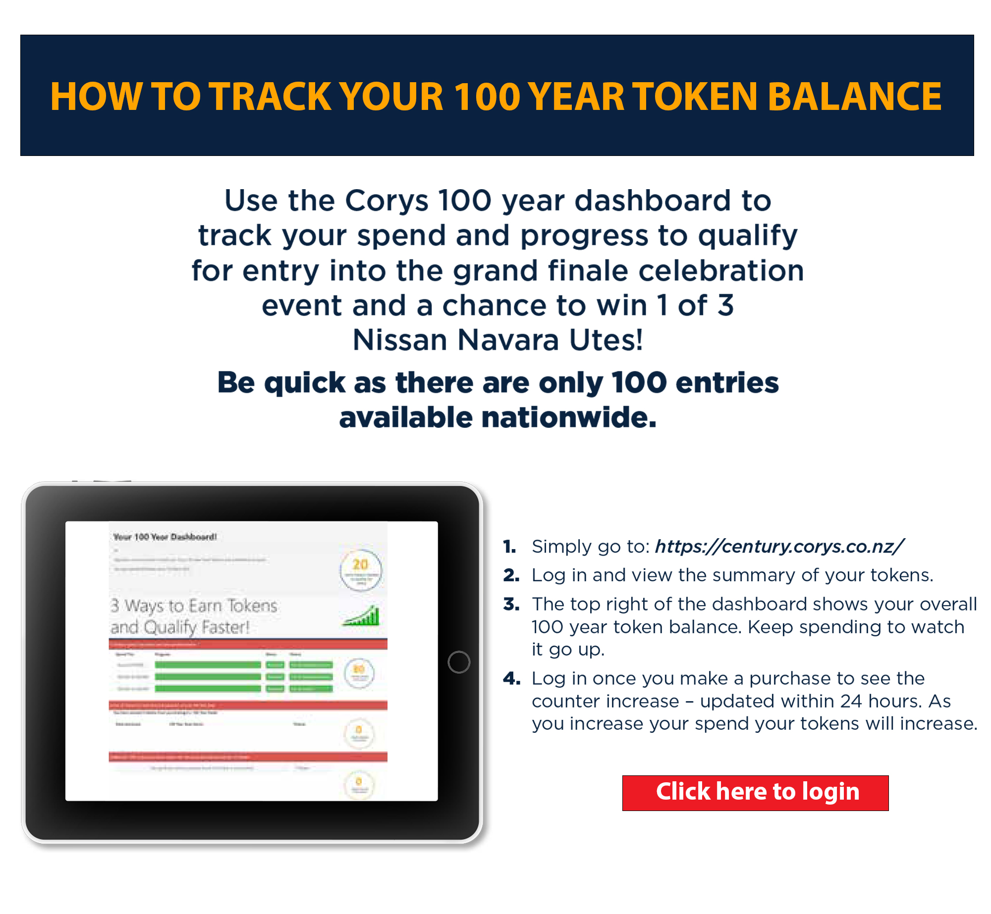 Corys 100 Years How To Register